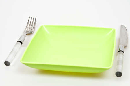 Dinner arrangement isolated on white background Stock Photo - 8766037