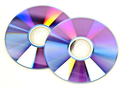 Disks isolated on white background photo