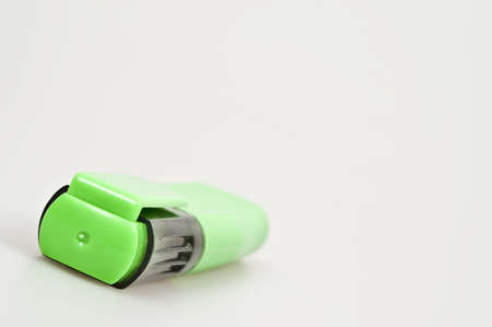 Isolated green marker on white background photo