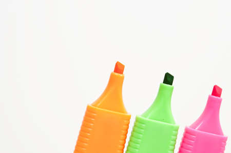 Isolated marker pens on white background photo