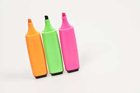 Isolated marker pens on white background Stock Photo - 8766350