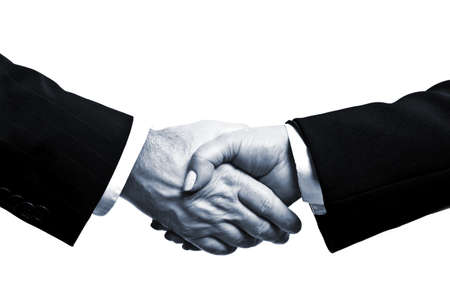 Business people shake their hands photo
