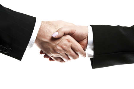 Business people shake their hands Stock Photo - 8767048