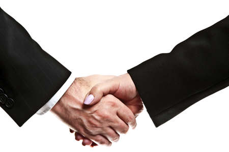 Business people shake their hands Stock Photo - 8767047