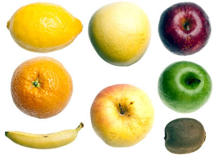 Collage of different type of fruits photo