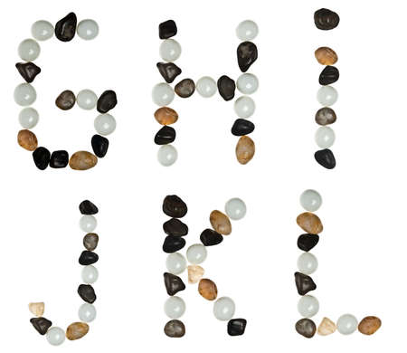 G to L letters made of stones photo