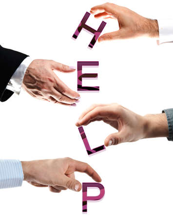 Help word made by many business people hands Stock Photo - 8925100
