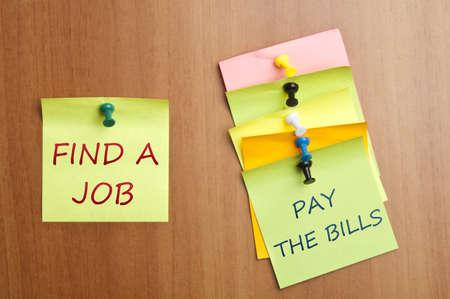 Find a job post it Stock Photo - 8925325