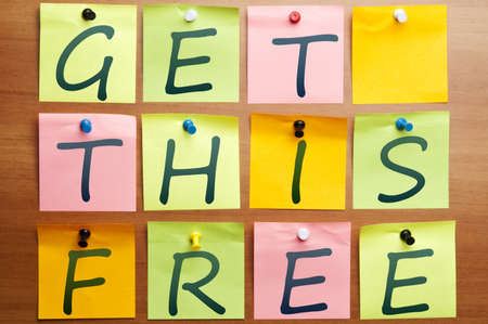 Get this free made by post it Stock Photo - 8925315