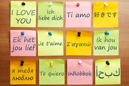 idiomas: Me encanta la palabra hizo por correo en 12 idiomas