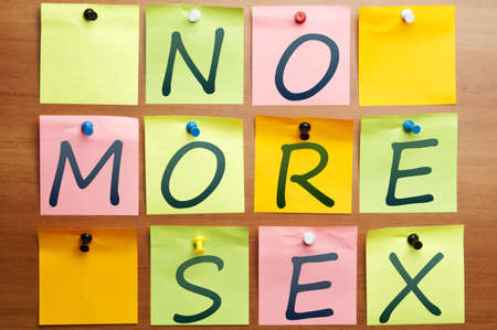 No more sex words made by post it Stock Photo - 8925441