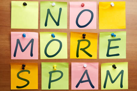 No more spam words made by post it photo