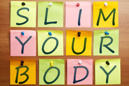 Slim your body ad made by post it photo