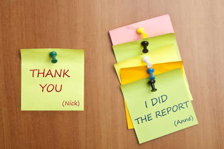 Thank you post it between colleagues photo