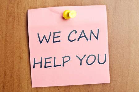 Possiamo aiutarvi a post-it