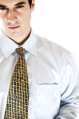 Close-up to isolated business man Stock Photo - 8992176