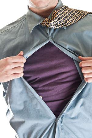 Business man in super hero concept Stock Photo - 8992186