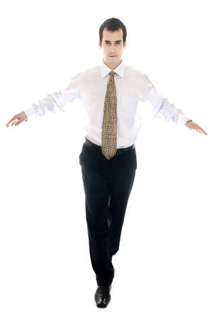 Isolated young business man running Stock Photo - 8992109