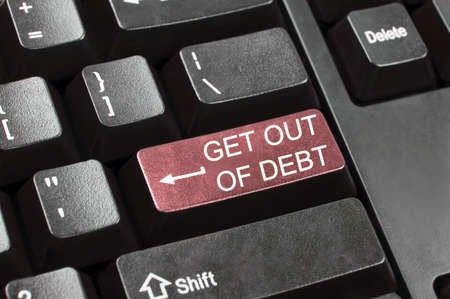 Get out of debt key in place of enter key photo