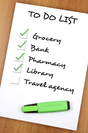 To do list with Travel agency not checked Stock Photo - 9140788