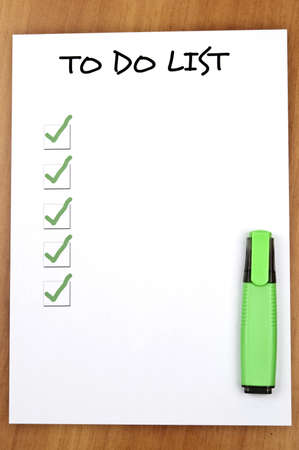 Empty to do list and pen Stock Photo - 9140780