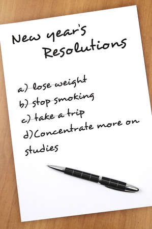 New year resolution Concentrate more on studies not completed Stock Photo - 9140785