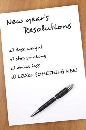 new years resolution: New year resolution with Learn something new as most important