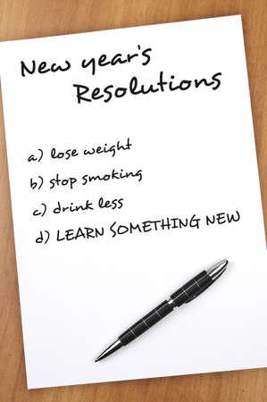 les plus: R�solution du nouvel an avec apprendre quelque chose de nouveau comme plus important Banque d'images