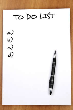 Empty to do list and pen Stock Photo - 9140772