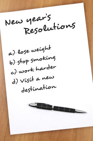 resolutions: New year resolution with Visit new destination not completed