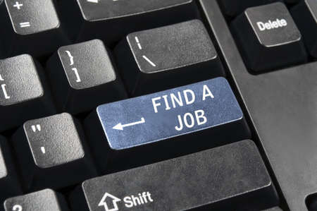 Find a job key in place of enter key Banque d'images - 9153857