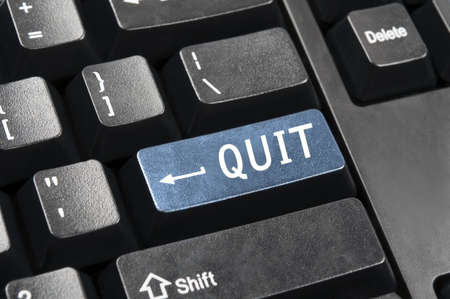 Quit key in place of enter key Stock Photo - 9153856