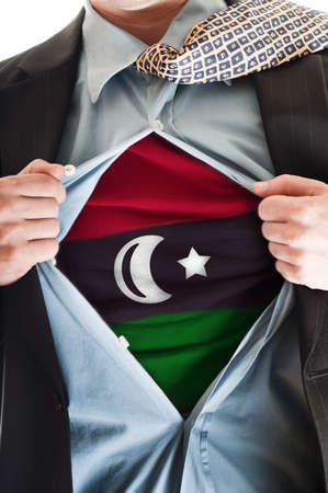 libysch: Business Mann Ergebnis Flag shirt Lizenzfreie Bilder