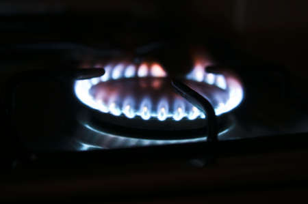 Close-up to cooker with flame photo