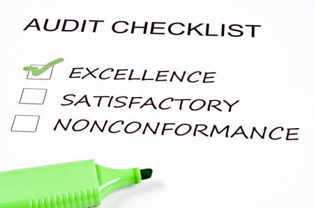 verification: Audit checklist and a marker