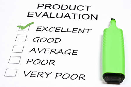satisfactory: Excellent rating on product evaluation