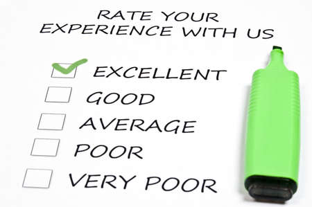 Excelllent rating and marker pen Stock Photo - 9198888