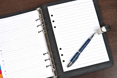 daily: Closeup to agenda with blank page Stock Photo