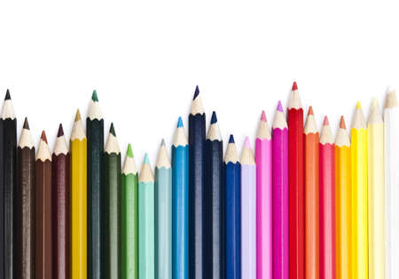 Group of different colorful pencils Stock Photo - 9221084