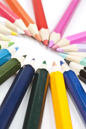 coloured pencil: Group of different colorful pencils Stock Photo
