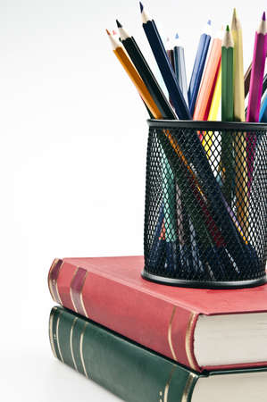 Group of different colorful pencils Stock Photo