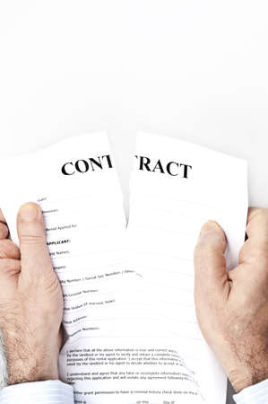 Contract termination by male hands Stock Photo - 9221001