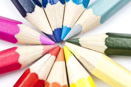 Group of different colorful pencils photo