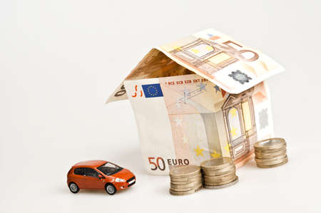 House made by euro banknotes photo