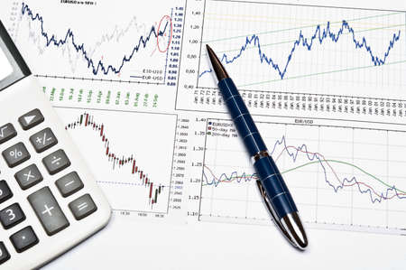 Euro and dollar exchange graph Stock Photo - 9222354