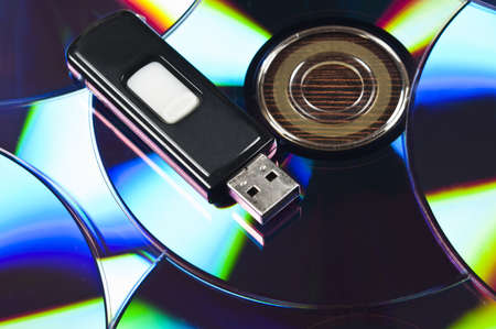 portable rom: Usb stick on group of cd