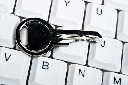 Key on an white keyboard Stock Photo - 9253205