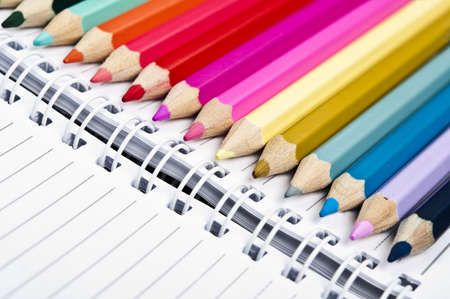 Colorful wooden pencils close up Stock Photo - 9253177
