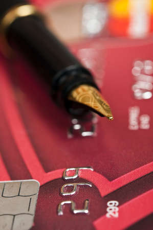 Extreme close up to credit card Stock Photo - 9343850