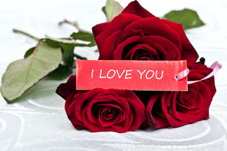 rose bouquet: Rose bouquet and love you message